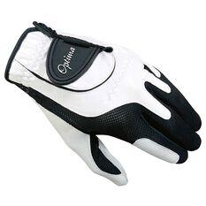 Optima Soft Feel Mens Golf Glove White / Black OSFA Left Hand, , rebel_hi-res