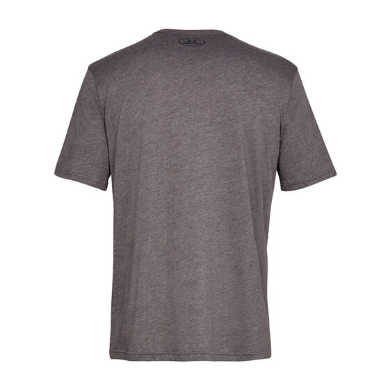 Under Armour Mens Sportstyle Tee, Charcoal, rebel_hi-res