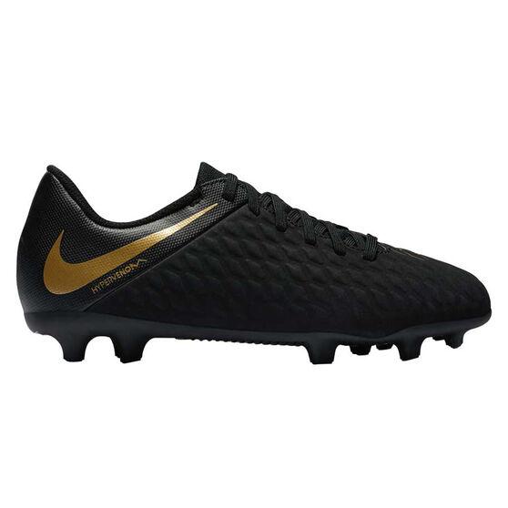 low priced d3bdc a5ed9 Nike Hypervenom Phantom III Club Mens Football Boots Black   Gold US 9,  Black