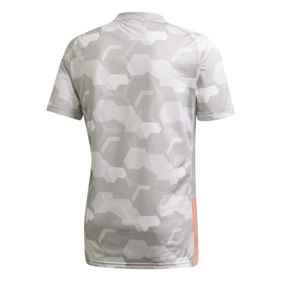 adidas Mens TAN Tech Graphic Football Jersey, Grey, rebel_hi-res