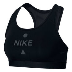 Nike Womens Swoosh Icon Clash Sports Bra Black / Grey XS, Black / Grey, rebel_hi-res