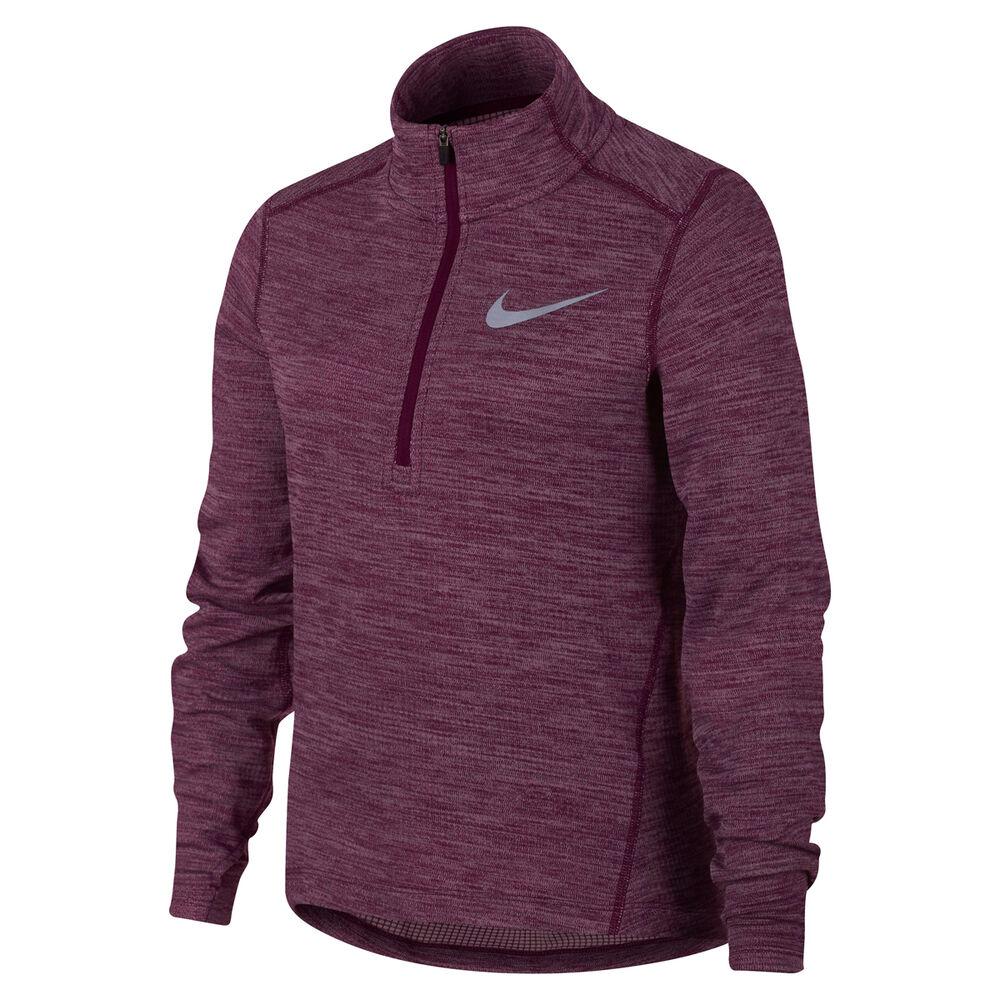 75b0cf99c9 Nike Girls DriFIT Long Sleeve Half Zip Running Top