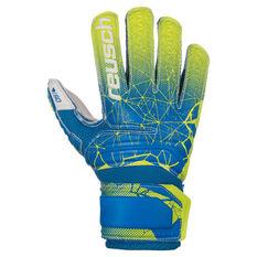 Reusch Junior Fit Control SD Open Cuff Finger Support Goalkeeper Gloves Blue / Green 5, Blue / Green, rebel_hi-res