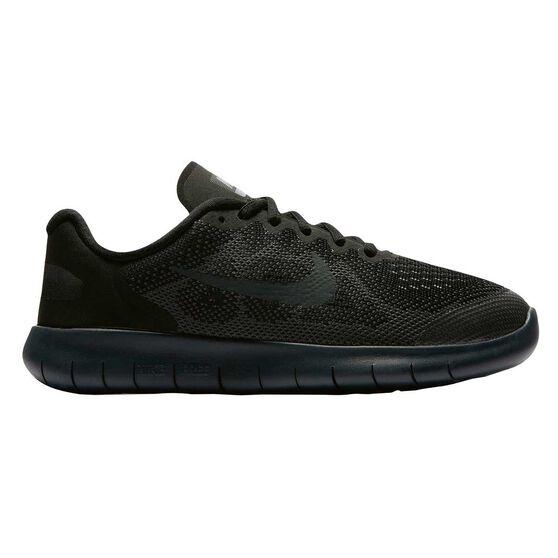 ad236288c08c2 Nike Free RN 2017 Boys Running Shoes Black   Grey US 4
