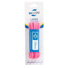 Realign Oval 120cm Fluro Shoe Laces Pink, , rebel_hi-res
