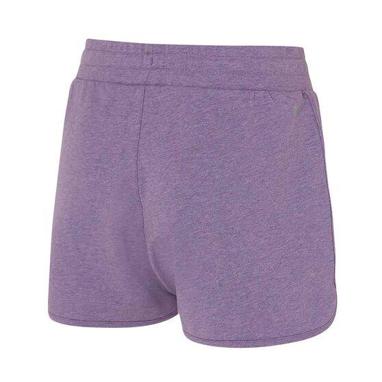 Ell & Voo Womens Kelsey Knit Shorts, Purple, rebel_hi-res