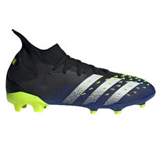 adidas Predator Freak .2 Football Boots Black US Mens 7 / Womens 8, Black, rebel_hi-res