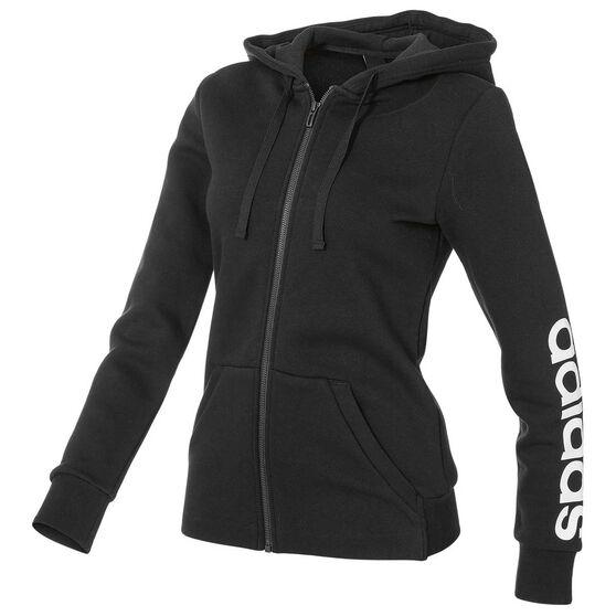 adidas Womens Essentials Full Zip Linear Hoodie, , rebel_hi-res