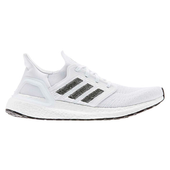 adidas Ultraboost 20 Mens Running Shoes, White / Grey, rebel_hi-res