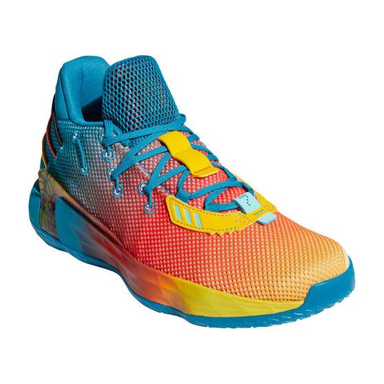 adidas Dame 7 Avatar Basketball Shoes, Blue/Orange, rebel_hi-res