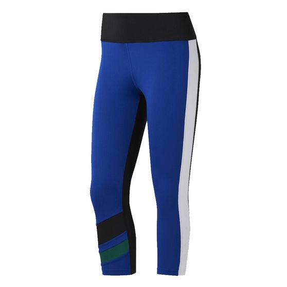 Nike Womens WOR Colourblocked Capri Tights, Cobalt, rebel_hi-res