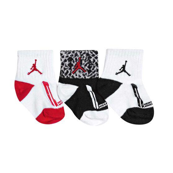 Nike Toddlers Jordan Jumpman Gripper Socks 3 Pack, White / Black, rebel_hi-res