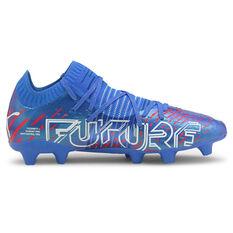 Puma Future Z 1.2 Football Boots Blue/Red US Mens 7 / Womens 8.5, Blue/Red, rebel_hi-res