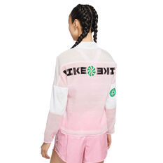 Nike Womens Icon Clash Running Jacket Pink XS, Pink, rebel_hi-res