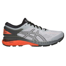Asics GEL Kayano 25 Mens Running Shoes Grey / Orange US 7, Grey / Orange, rebel_hi-res
