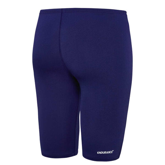 Speedo Mens Basic Jammer Swim Shorts Navy 14, Navy, rebel_hi-res
