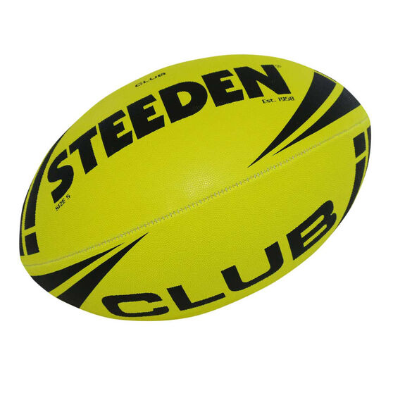 Steeden NRL Club Fluoro Rugby League Ball, , rebel_hi-res