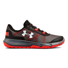 Under Armour TOCCOA Womens Running Shoes Grey / Red US 7, Grey / Red, rebel_hi-res