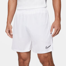 Nike Mens Dri-FIT Academy Soccer Shorts White XS, White, rebel_hi-res