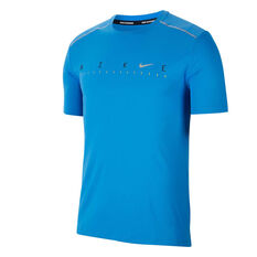 Nike Mens Dri-FIT Miler Future Fast Running Tee, Blue, rebel_hi-res