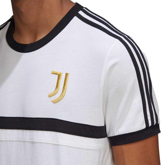 Juventus 2020/21 Mens 3-Stripes Tee, White, rebel_hi-res