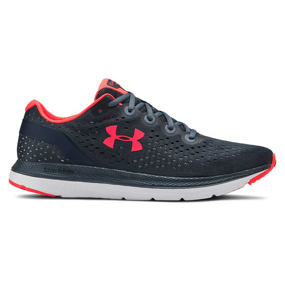 Under Armour Charged Impulse Mens Running Shoes, Blue / Grey, rebel_hi-res