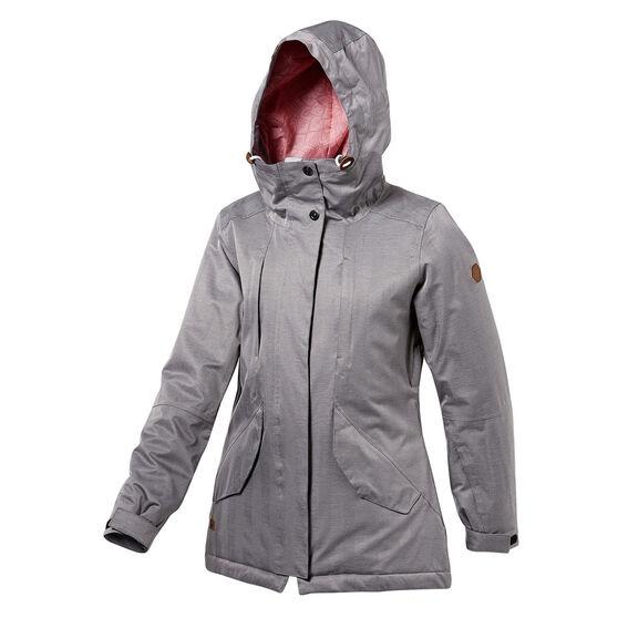 Tahwalhi Womens Northern Lights Ski Jacket, Grey, rebel_hi-res