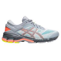 Asics GEL Kayano 26 Liteshow 2.0 Womens Running Shoes Grey / Coral US 6, Grey / Coral, rebel_hi-res