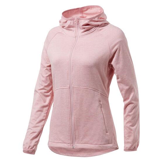 Tahwalhi Womens Glide Full Zip Hoodie, Pink, rebel_hi-res