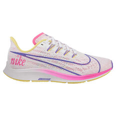 Nike Air Zoom Pegasus 36 Disrupt Womens Running Shoes White / Purple US 6, White / Purple, rebel_hi-res
