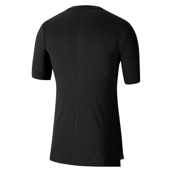 Nike Mens Dri-FIT Yoga Tee, Black, rebel_hi-res