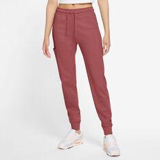 Nike Air Womens Fleece Pants Pink XS, Pink, rebel_hi-res