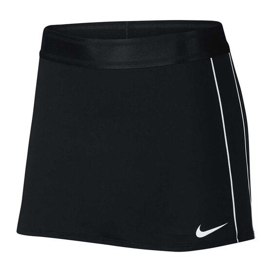 Nike Court Womens Dri FIT Tennis Skirt Black S, Black, rebel_hi-res