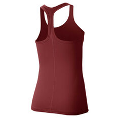 Nike Womens Get Fit Yoga Training Tank Rust XS, Rust, rebel_hi-res