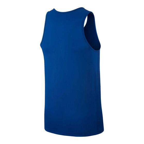 Nike Mens Breathe Running Tank, Blue, rebel_hi-res