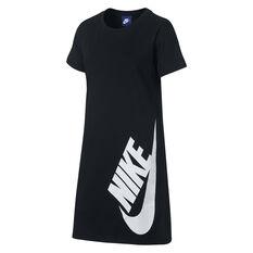 Nike Girls Sportswear T-Shirt Dress Black / White XS, Black / White, rebel_hi-res