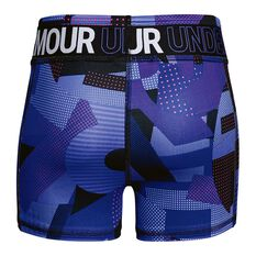 Under Armour Girls HeatGear Armour Shorty Shorts Purple XS, Purple, rebel_hi-res