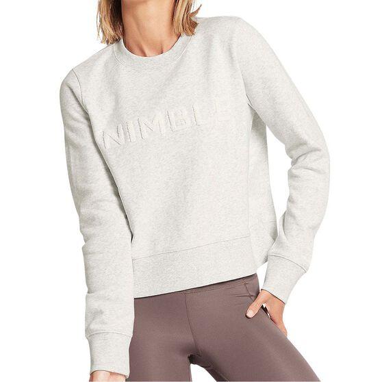 Nimble Womens Branded Crew Sweatshirt, Grey, rebel_hi-res