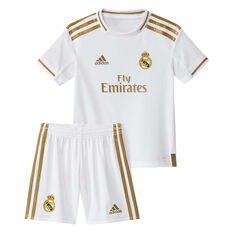 Real Madrid CF 2019/20 Infants Home Jersey White / Gold 3, White / Gold, rebel_hi-res