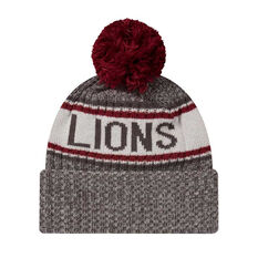 Brisbane Lions New Era 6 Dart Cuff Beanie, , rebel_hi-res