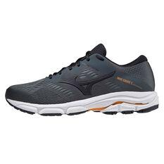 Mizuno Wave Equate 5 Mens Running Shoes Grey/Orange US 8, Grey/Orange, rebel_hi-res