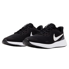 Nike Revolution 5 Kids Running Shoes, Black/White, rebel_hi-res