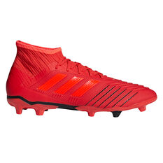 adidas Predator 19.2 Mens Football Boots Red US Mens 7 / Womens 8, Red, rebel_hi-res