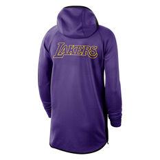 Los Angeles Lakers Mens Therma Flex Showtime Hoodie Purple S, Purple, rebel_hi-res
