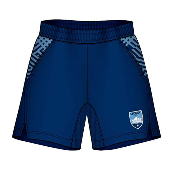 Sydney FC Mens Supporter Training Shorts, Blue, rebel_hi-res