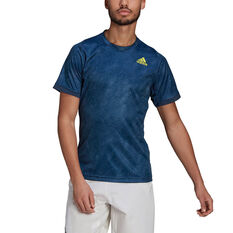 adidas Mens Freelift Tennis T-Shirt Navy S, Navy, rebel_hi-res