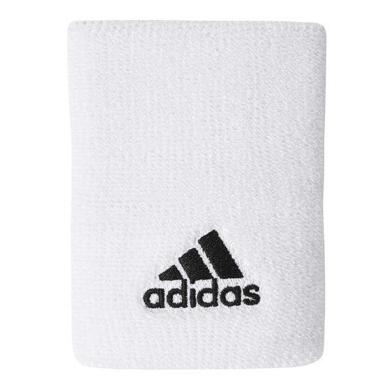 adidas Large Tennis Wristband White / Black Large, , rebel_hi-res