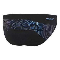 Speedo Mens Century Swim Briefs, Black / Print, rebel_hi-res