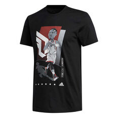 adidas Mens Dame Geek Up Tee Black S, Black, rebel_hi-res
