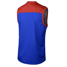 Melbourne Demons 2019 Mens Away Guernsey Blue / Red M, Blue / Red, rebel_hi-res